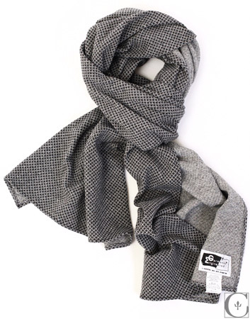 Engineered Garments - Grey Diamond Jaquard Jersey Scarf ($74)