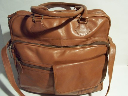 Brown leather bag/briefcase ($75)