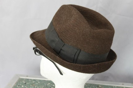 Brown fedora with black ribbon ($32)