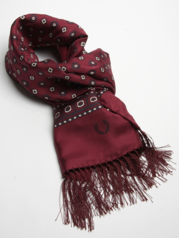 Fred Perry Medallion Stripe Scarf ($80)